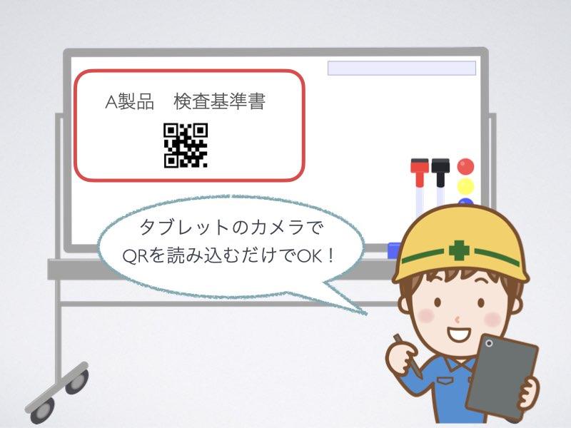 QRコードで簡単に帳票を読み込むことができます